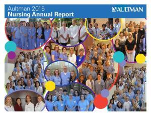Aultman 2015 Nursing Annual Report