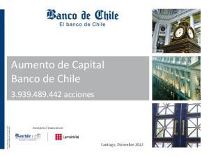 Aumento de Capital Banco de Chile