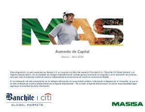 Aumento de Capital. Marzo Abril 2009