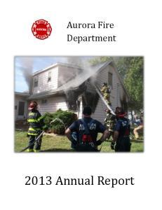 Aurora Fire Department Annual Report