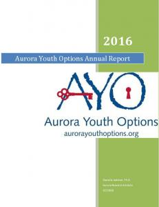 Aurora Youth Options Annual Report