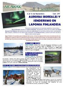 AURORAS BOREALES Y SENDERISMO EN LAPONIA FINLANDESA