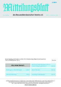 Aus dem Inhalt: H 4888 D. Wie sind wir Dobrudschadeutschen zu unserem Wappen gekommen? Seite 11