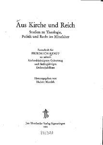 Aus Kirche und Reich