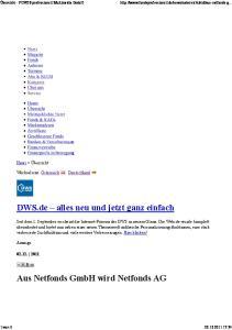 Aus Netfonds GmbH wird Netfonds AG