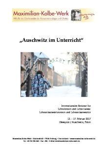 Auschwitz im Unterricht