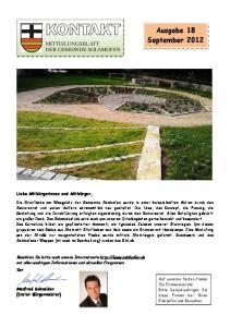 Ausgabe 18 September 2012