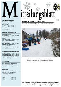 Ausgabe Nr. 1 vom 27. Januar 2017