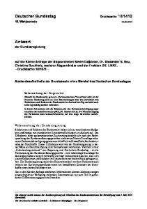 Auslandsaufenthalte der Bundeswehr ohne Mandat des Deutschen Bundestages