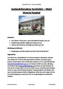 Auslandsfamulatur Seychellen Mahé Victoria Hospital