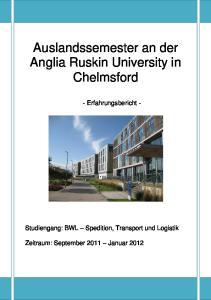 Auslandssemester an der Anglia Ruskin University in Chelmsford