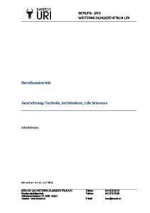 Ausrichtung Technik, Architektur, Life Sciences