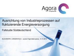 Ausrichtung von Industrieprozessen auf fluktuierende Energieversorgung