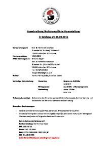 Ausschreibung Breitensportliche Veranstaltung. in Selchow am