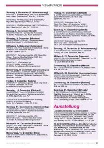 Ausstellung. Sonntag, 4. Dezember (2. Adventsonntag) Freitag, 16. Dezember (Adelheid) Samstag, 17. Dezember (Jolanda) Montag, 5