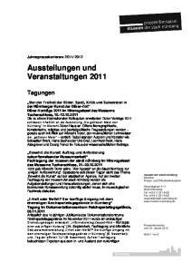 Ausstellungen und Veranstaltungen 2011
