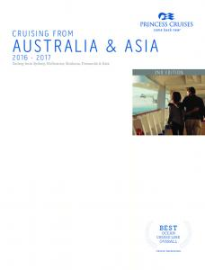 AUSTRALIA & ASIA CRUISING FROM BEST OCEAN CRUISE LINE OVERALL 2ND EDITION. Sailing from Sydney, Melbourne, Brisbane, Fremantle & Asia