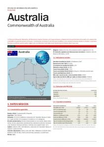 Australia. Commonwealth of Australia. Australia 1. DATOS BÁSICOS OFICINA DE INFORMACIÓN DIPLOMÁTICA FICHA PAÍS Indicadores sociales