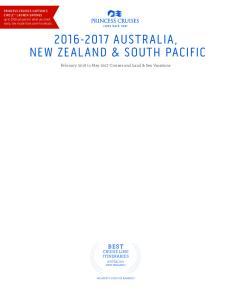 AUSTRALIA, NEW ZEALAND & SOUTH PACIFIC