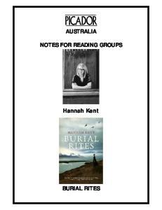 AUSTRALIA NOTES FOR READING GROUPS