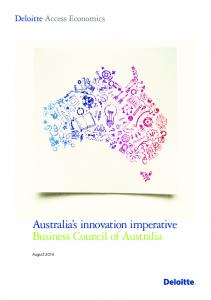 Australia s innovation imperative Business Council of Australia