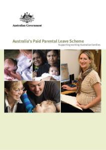 Australia s Paid Parental Leave Scheme Supporting working Australian families