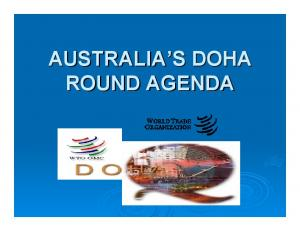 AUSTRALIA S S DOHA ROUND AGENDA