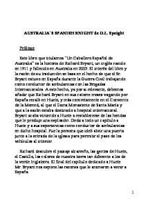 AUSTRALIA S SPANISH KNIGHT de D.L. Speight