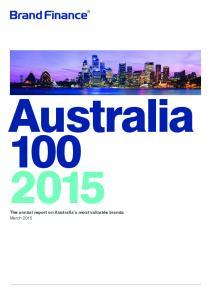 Australia The annual report on Australia s most valuable brands