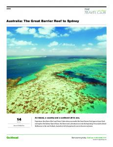 Australia: The Great Barrier Reef to Sydney