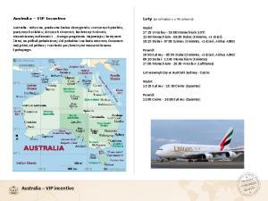 Australia VIP incentive