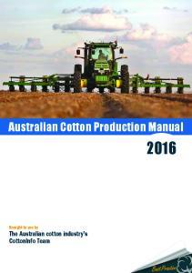 Australian Cotton Production Manual
