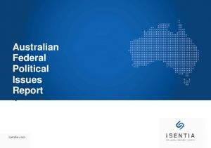 Australian Federal Political Issues Report