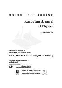 Australian Journal of Physics