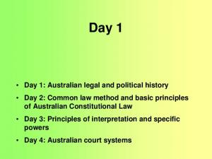 Australian legal and political history