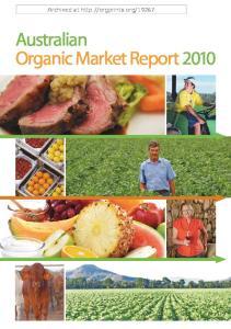 Australian Organic Market Report 2010
