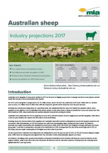 Australian sheep industry projections 2017
