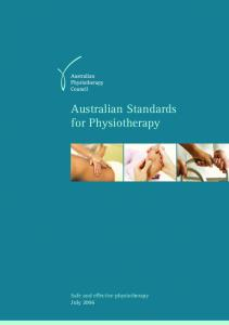Australian Standards for Physiotherapy