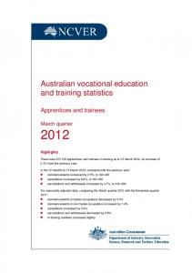 Australian vocational education and training statistics