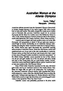 Australian Women at the Atlanta Olympics