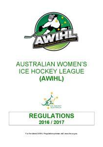 AUSTRALIAN WOMEN S ICE HOCKEY LEAGUE (AWIHL)