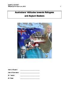 Australians Attitudes towards Refugees and Asylum Seekers