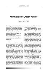 AUSTRALIEN MIT ADLER-AUGEN