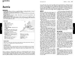 Austria. Lonely Planet Publications AUSTRIA AUSTRIA FAST FACTS TRAVEL HINTS ROAMING AUSTRIA