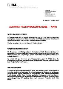 AUSTRIAN PACS PROCEDURE CODE APPC