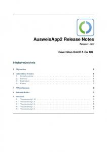 AusweisApp2 Release Notes Release