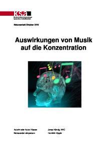 Auswirkungen von Musik auf die Konzentration