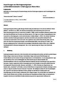 Auswirkungen von Starkregenereignissen auf die Gefahrenabwehr im Ballungsraum Rhein Main