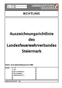 Auszeichnungsrichtlinie des Landesfeuerwehrverbandes Steiermark