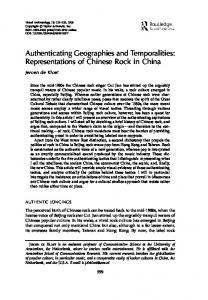 Authenticating Geographies and Temporalities: Representations of Chinese Rock in China